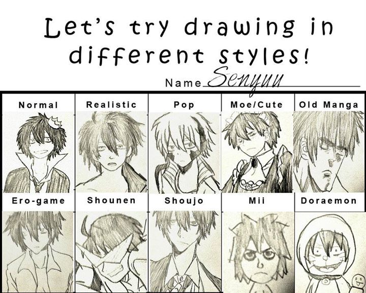 Lets try drawing in different styles by hlorki