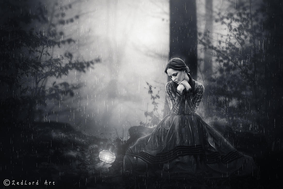 L'automne(black and white) by ZedLord-Art on DeviantArt