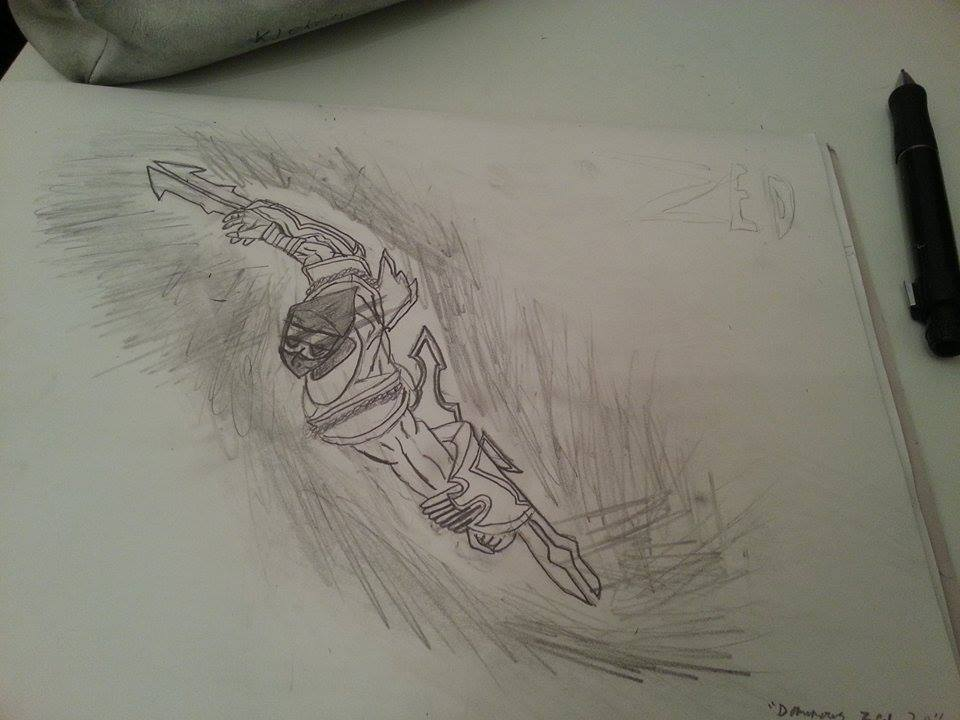 Decided to draw zed today shockblade with a twist by for What to draw today