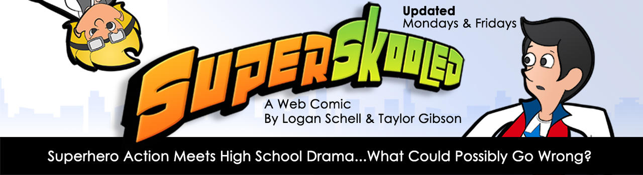 SuperSkooled Title Page by Cartoonicus