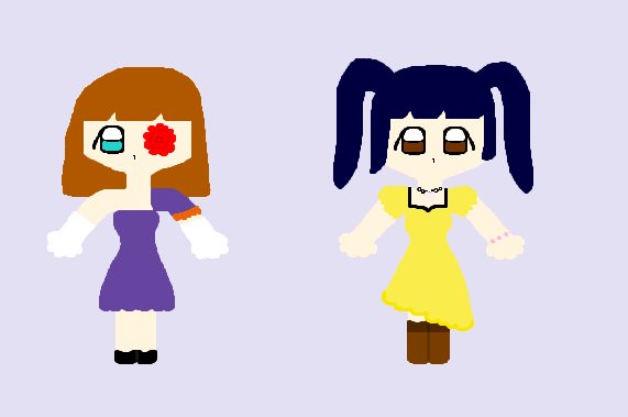 New Chibi Style - TL'SS - Lavender and Maria by SailorSnowflake