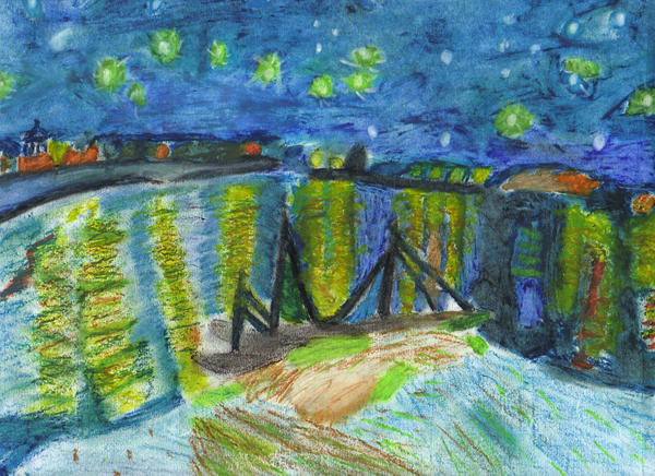 Starry Night Over the Rhone by Hollisterr on DeviantArt