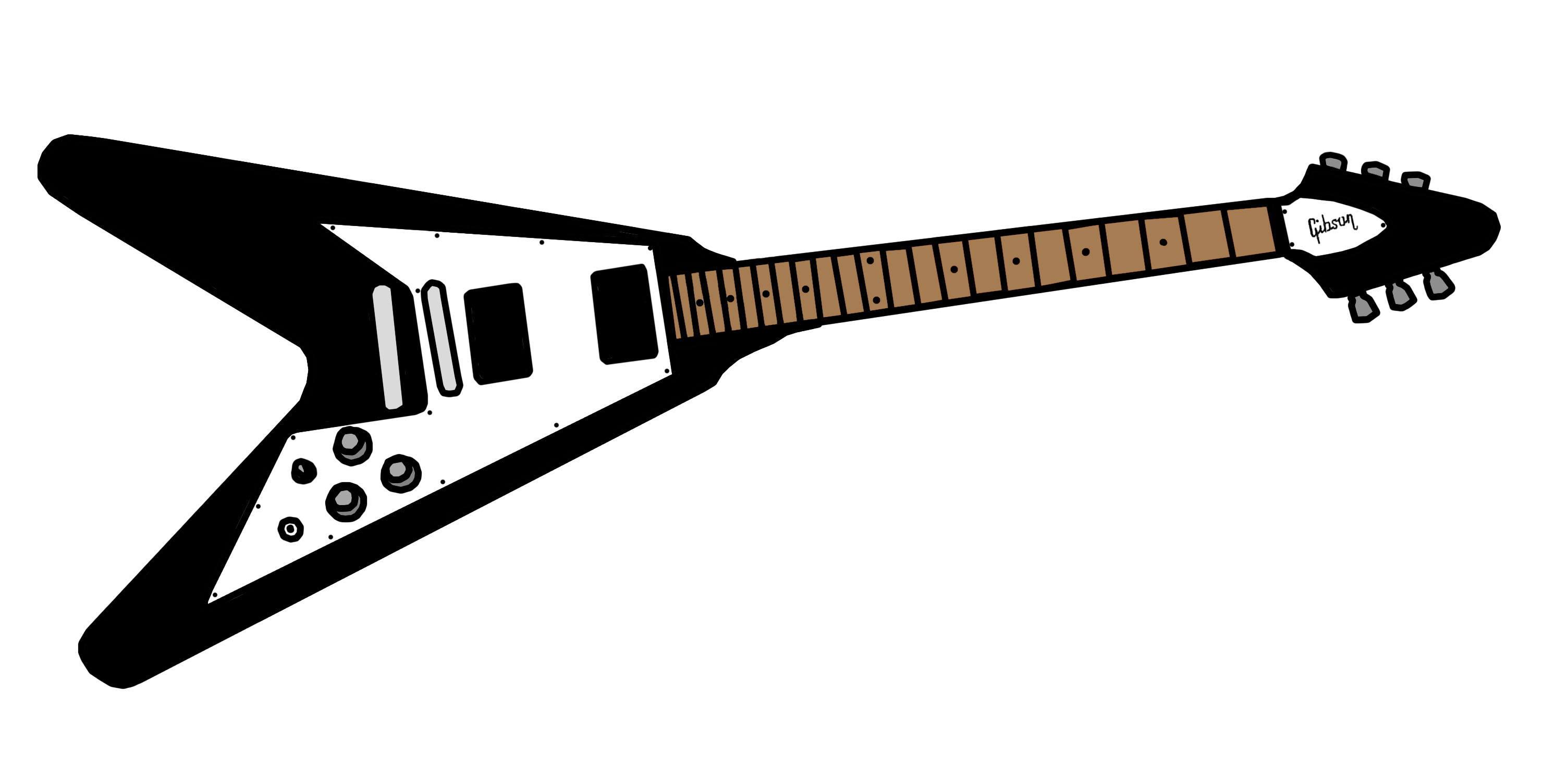 gibson flying v colored by isunakun on deviantart