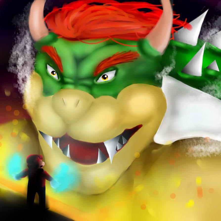 Bowser vs. Mario by lunumchan