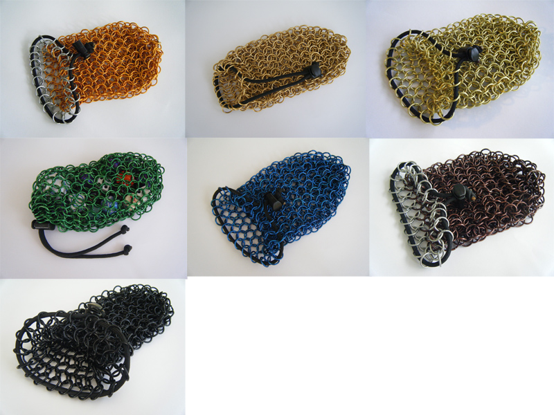 Chainmail Dice Bags - Large by Missa-chan on DeviantArt