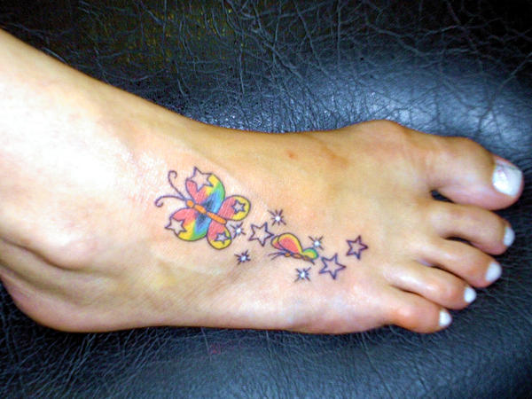 Butterfly with stars in the fo