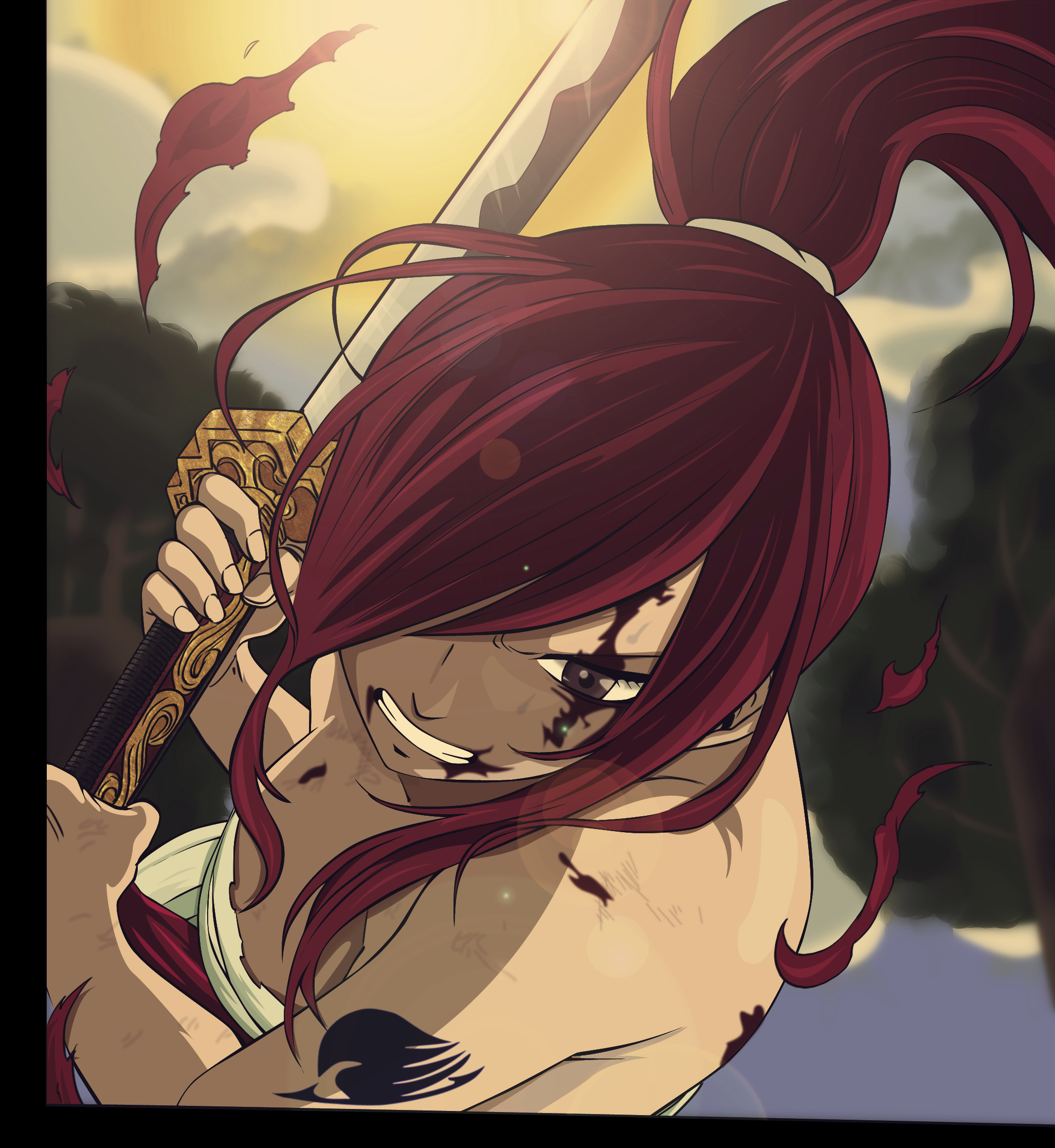 Erza Scarlet Wallpaper: Erza Scarlet By MetalboyII On DeviantArt