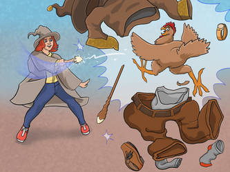 Wizard Chicken Fight by Cayuga