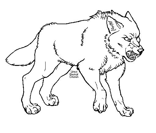 Angry Wolf Lineart By Eternalcresen On Deviantart