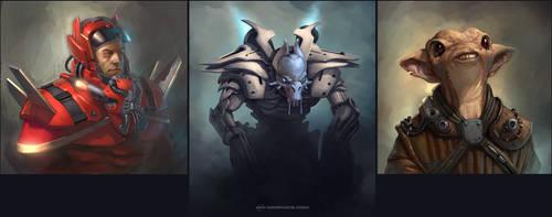 3 KG Concept Portraits by Kai-S
