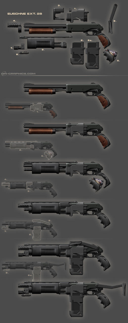 Pump Gun - weapon design by Kai-S