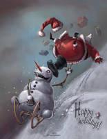 Snowman vs Santa by Kai-S