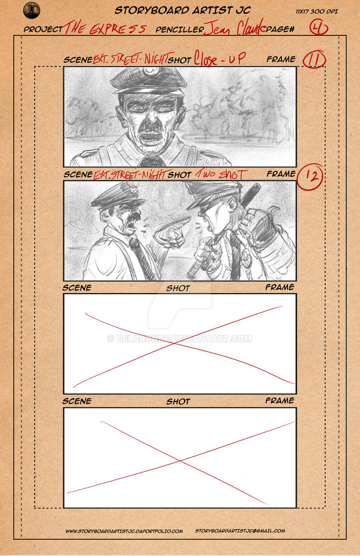 THE EXPRESS - STORYBOARDS - by delaronde