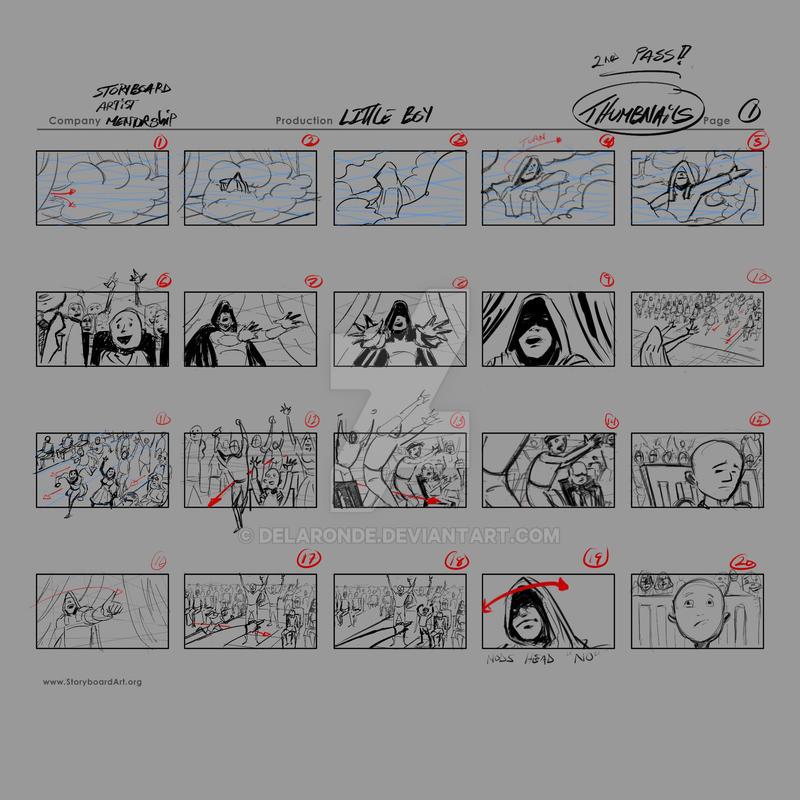 Storyboards-Thumbnails-Little Boy by delaronde