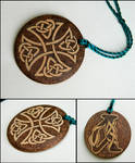 CELTIC CROSS two sided key chain with monogram