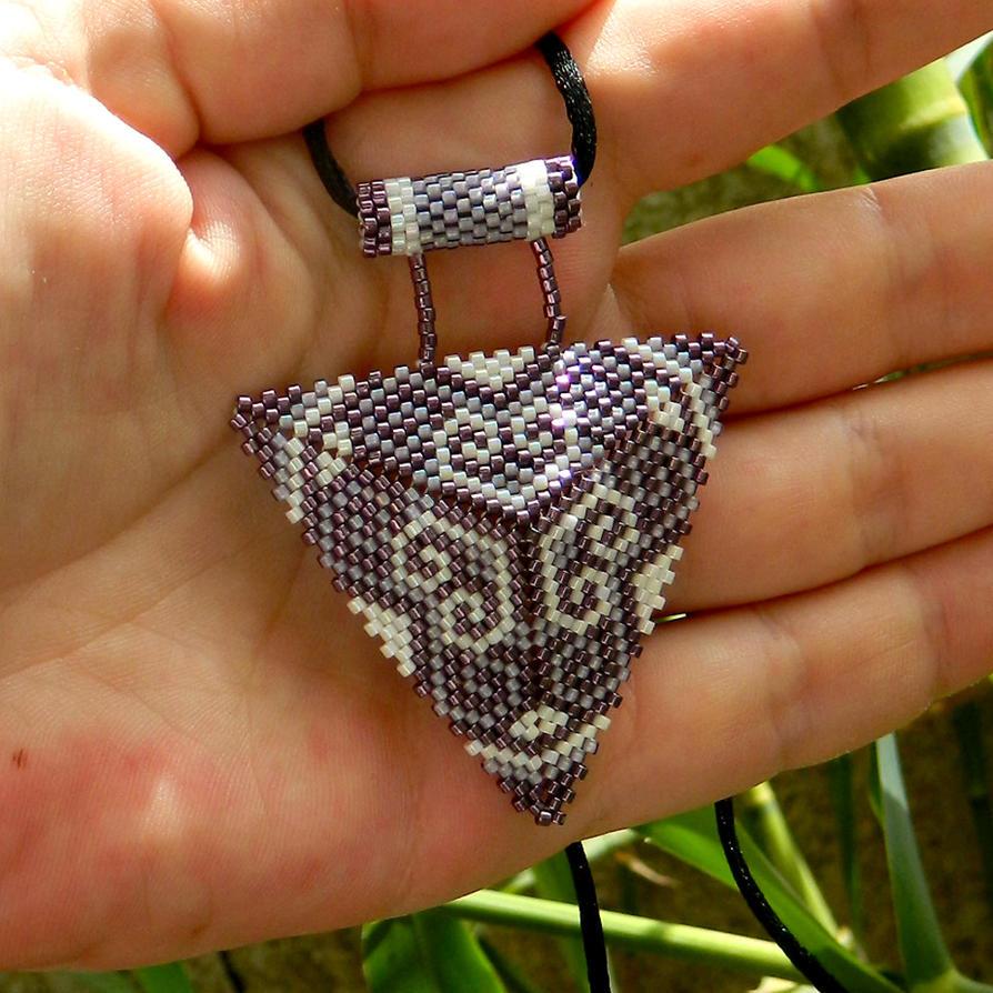 Beautiful purple and white ornament beaded pendant by yanka arts n beautiful purple and white ornament beaded pendant by yanka arts n crafts mozeypictures Choice Image