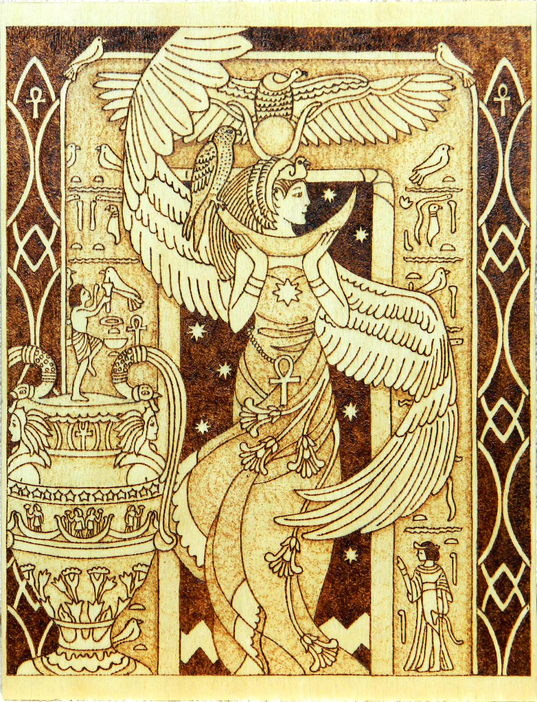 Isis Egyptian Goddess of motherhood and magic wood by YANKA-arts-n ...