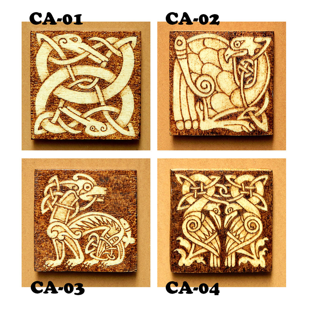Celtic animals wooden fridge magnets choose one by yanka for Where to buy magnets for crafts