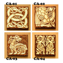 Celtic Animals wooden fridge magnets choose one