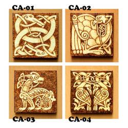 Celtic Animals wooden fridge magnets choose one by YANKA-arts-n-crafts