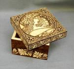 Woodburned Art Nouveau wooden keepsake box by YANKA-arts-n-crafts