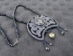 Moon of the Witches bead embroidered necklace