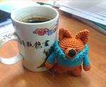 Rudi the amigurumi Fox who hates winter by YANKA-arts-n-crafts
