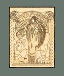 White Buffalo Woman Native American Goddess plaque by YANKA-arts-n-crafts