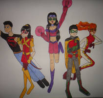 The New Teen Titans (link to final in description) by Firefaerie81