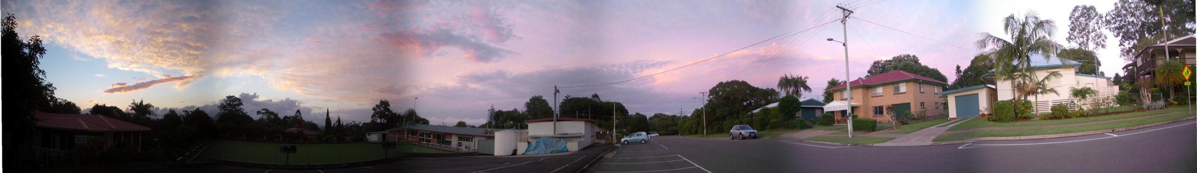 Sunset Panorama by fiashy