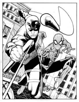 Daredevil and Spider- man comi
