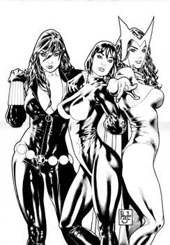 Three girls from Marvel