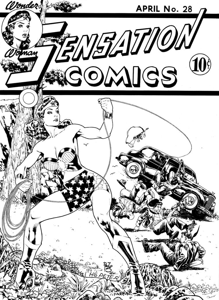 Sensation Comics 28 comisson by PauloSiqueira