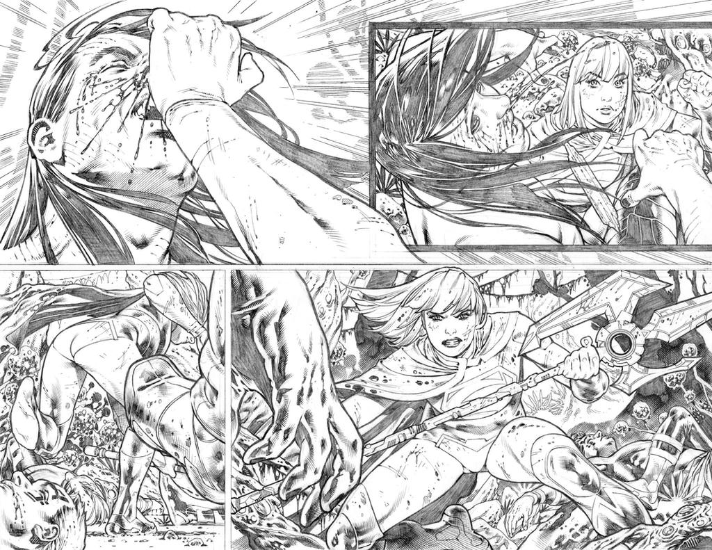 Supergirl #25 pages 06-07 by PauloSiqueira