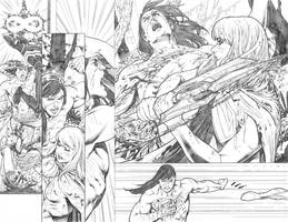 Supergirl # 25 pages 14 15 by PauloSiqueira