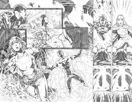 Supergirl #25 pages 16 17 by PauloSiqueira