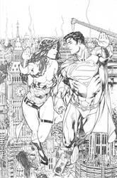 Superman WonderWoman 07 page 01 by PauloSiqueira