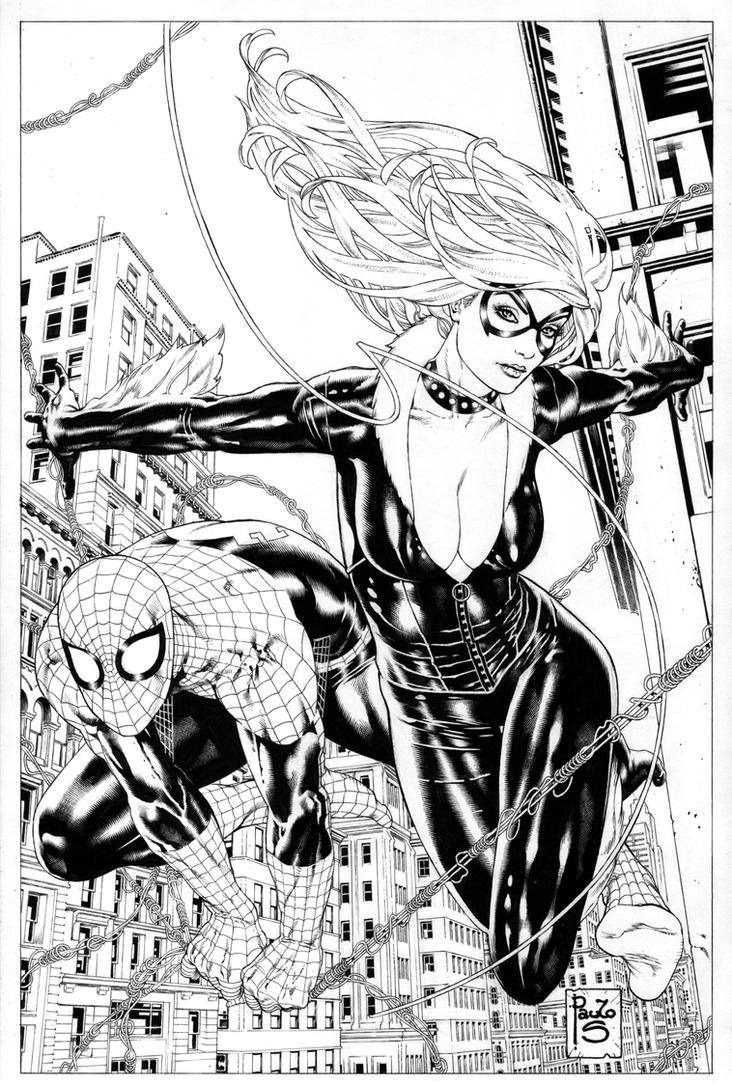 Spidey BlackCat comission by PauloSiqueira