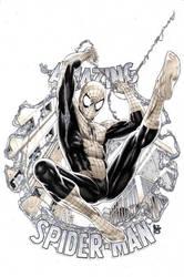 Spider Man mixed media