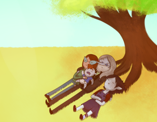 Meltdown AU - Sleeping on the tree by CommanderMs