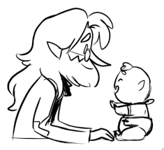 Meltdown AU: Simon and Baby Peter by CommanderMs
