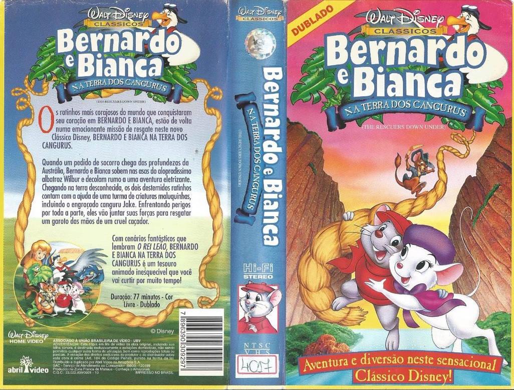 Bernardo E Bianca Na Terra Dos Cangurus Vhs De 199