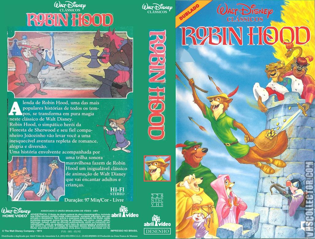 Robin Hood Vhs Abril Video 1992