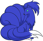 Blue Ninetails by Diamondscar