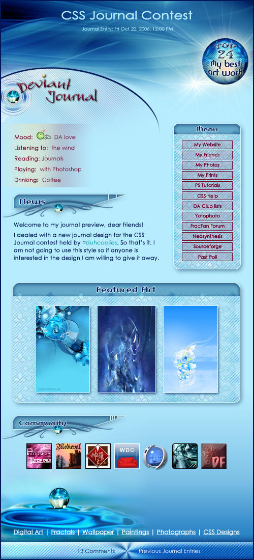 CSS Journal Contest - Winter by Viliggoly
