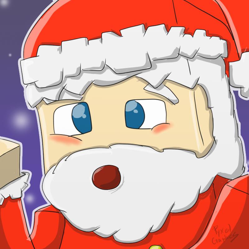 Christmas Minecraft Santa.Minecraft Santa Claus Merry Christmas By Pyxelgraphics On
