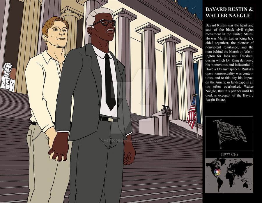 Bayard Rustin + Walter Naegle by MeteoDesigns