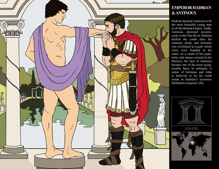 Emperor Hadrian + Antinous by MeteoDesigns
