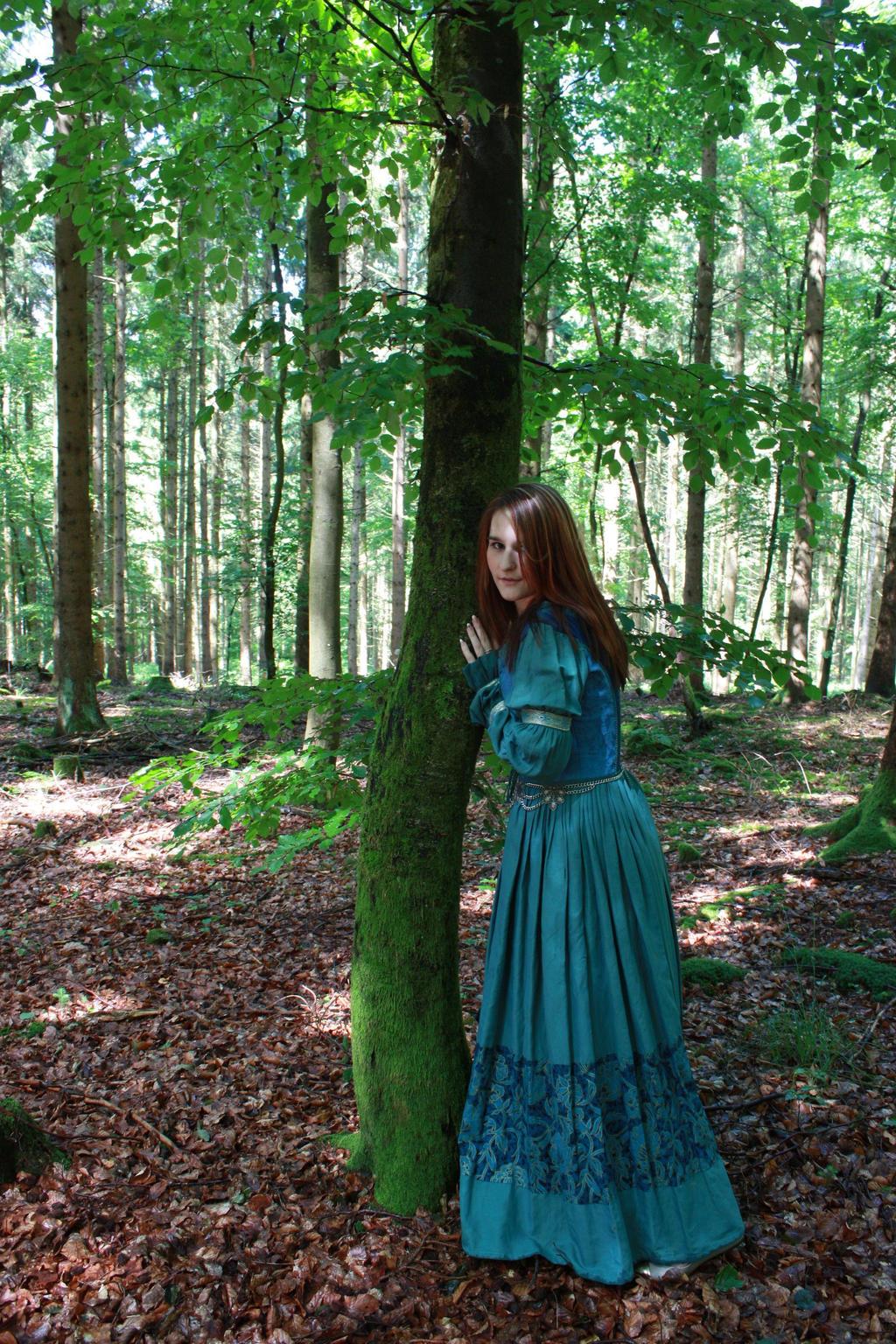 STOCK Medieval girl blue I by MyladyTane