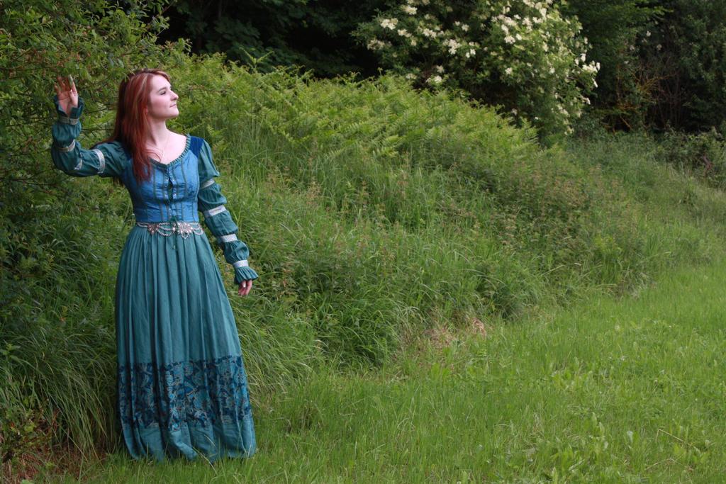 STOCK Medieval girl blue II by MyladyTane